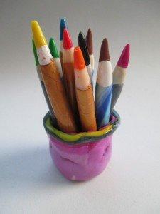 Repose photos pot crayons
